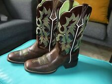 ARIAT RODEOBABY Cowboy Boots 8.5 B Womens ROCKER Square Toe Tattoo Cowgirl RODEO