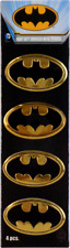 37026 Gold Batman Logo METAL EMBLEM Superhero Comic Sticker Decal PACK OF 4 New