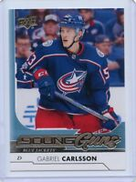 17/18 UPPER DECK YOUNG GUNS ROOKIE RC #215 GABRIEL CARLSSON BLUE JACKETS *45169