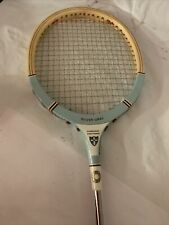 Vintage Grays of Cambridge Wooden Squash Sport Racket Silver Gray MadeIn England