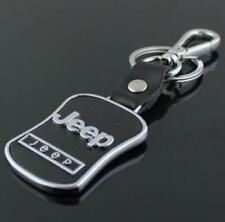PU Leather Black Buckle Keyring For Jeep auto Car Logo Key Ring Keychain Gift