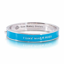 "DISNEY COUTURE SALE! Frozen White Gold ""I Like Warm Hugs"" Adult Bracelet"