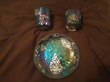 Decorative Mosaic Candle Set