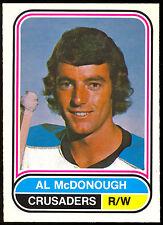 1975 76 OPC O PEE CHEE WHA #33 AL MCDONOUGH NM CLEVELAND CRUSADERS HOCKEY CARD