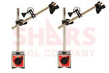 SHARS 2 pcs Magnetic Base Holder Fine Adjustment for Dial Test Indicator 135 Lbs
