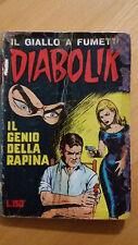 DIABOLIK seconda serie n.8 / 1965  Il genio della rapina  ORIGINALE  Sodip