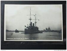 Postcard RPPC Warship Italy Venezia, Bacino di S.Marco nave da guerra (446)