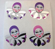 Sandylion Vintage 80's Foil Mylar Harlequin Clown Sticker Mod