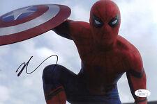 Tom Holland Signed 8x10 Spiderman Autograph JSA COA Like PSA DNA