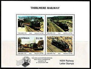 Australia 1993 Thirlmere Railway OP JAKARTA '95 Cinderella Sheetlet MNH