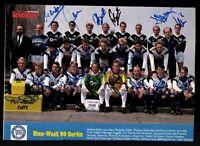 Kicker Mannschaftsbild Blau weiss Berlin 1989-90 19x Original Signiert # G 31752
