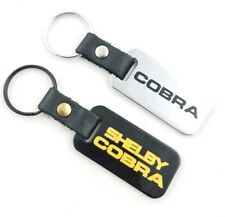 2 x Cobra Shelby Key Chain Black Leather Brass Keying Made In Usa Key Fob