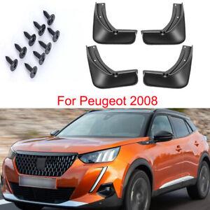 4 Car Mud Flap Splash Guard Mudguard Mudflap Fend For Peugeot 2008 2020-2022