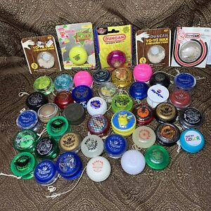 Lot of 42 Vintage Yo-Yo's Duncan Yomega Firestorm Imperial Made in USA Wax Rare!