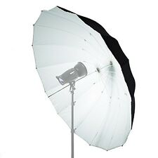 Mega Black & White Parabolic Umbrella 150cm - Photo Studio Light Diffuser Bounce