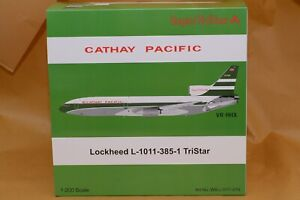 """New in Stock!"" JFOX Inflight 200 CATHAY PACIFIC Lockheed L-1011 VR-HHX Polished"