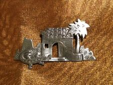 Vintage Estate Signed Jj 1988 Pewter Reptile Southwestern Pin