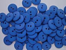 50    BUTTONS ROYAL BLUE MATT FINISH SIZE 15mm