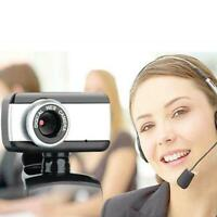 HD Camera Webcam Clip With Microphone USB 2.0 For PC Laptop E5L0