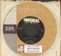 Nelson, Rick - Poor Little Fool Vinyl 45 rpm Record Free Shipping