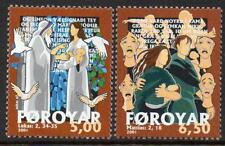 Faroe Islands Mnh 2001 Sg423-4 Christmas