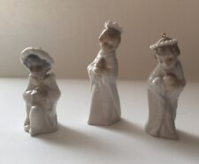 Lladro #5729 Ornament Set Mini Nativity Figurines 3 Three Wise Men Repaired