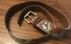 Disney Store Tinker Bell Faux Leather Belt~ Sassy! Size Women's L