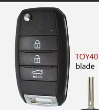 KIA 3 Button Remote Key Case Sportage Sorento Rio Soul Fob Toy40 Blade Quality
