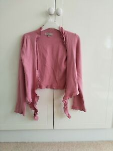 Kew tie front shrug, size S, dusty pink