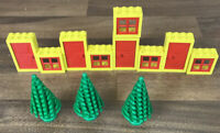 Vintage Classic Lego Windows and Doors with Shutters & 3 Trees Joblot Bundle