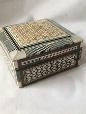 New Wooden Jewellery Box With Mother Of Pearl Mosaic