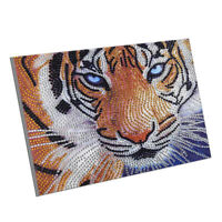 5D Diamond Painting Set Diamant Malerei speziell geformte Strass TIGER Stickerei