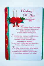 Christmas Memorial Card Graveside Thinking Of You Friend Family Poem Verse Grave