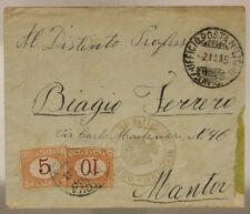 POSTA MILITARE 7^ DIVISIONE 2.11.1915 BUSTA CON SEGNATASSE TIMBRO REPARTO#XP253O
