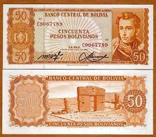 Bolivia, 50 Pesos Bolivanos, 1962, P-162, aUNC