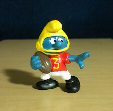 Smurfs American Football Smurf W Berrie Vintage NFL 80s Figure Toy PVC Lot 20132