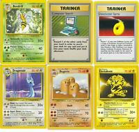 Rare Non Holo Base set 1 Pokemon Cards All 16 Available!