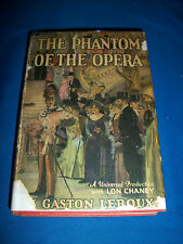 PHANTOM of OPERA 1st FILM EDITION with DUSTJACKET 1925 Gaston LEROUX Lon CHANEY