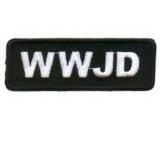 WWJD - WHAT WOULD JESUS DO CHRISTIAN EMBROIDERED BIKER  PATCH