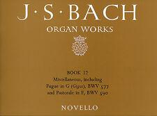 Bach Organ Works Learn to Play Classical Keyboard Music Book 12 FUGUE G BRIDGE