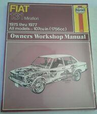 HAYNES OWNERS WORKSHOP MANUAL FIAT 131 MIRAFIORI 1975-77