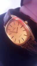SUPERB 1966 GENT'S GOLD OMEGA DE VILLE WATCH IN NEAR MINT CONDITION AND BOXED