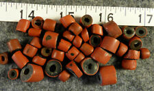 (10) Original Hudsons Bay Co Green Heart Indian Trade Beads 200+ Year Old