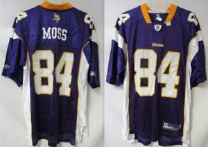 Minnesota Vikings Randy Moss #84 Jersey, Mens, Size Large C1 1260