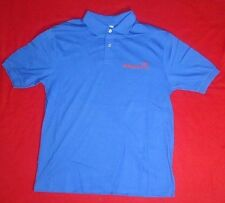 Men's Short Sleeve Polo WDAR FM Radio 105.5 Darlington Cobalt Blue Shirt Large