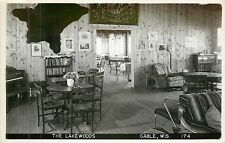 Wisconsin, WI, Cable, The Lakewoods Interior Real Photo Postcard 1955