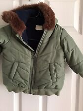 First Impressions Baby Boy Infant Hooded Coat Jacket Size 12 Months Green