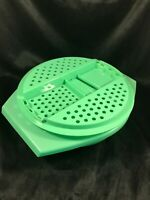 Vintage TUPPERWARE Jadite Green Grater Cheese Shredder and Bowl 786