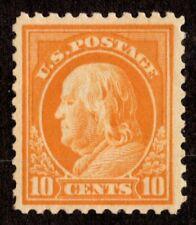 9525 OAS-CNY SCOTT 510510 – 1917 10c Franklin, orange yellow $25