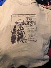 Vintage Pure Prairie League Concert T-Shirt Large 1981 K-State EUC Stage Crew